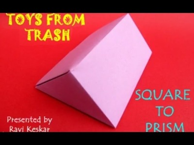 SQUARE TO PRISM - KANNADA - Geometry by Paper Folding!