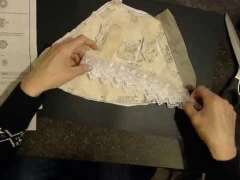 Tutorial # 2 How to layout and cut a Barbie Doll Gown Pattern