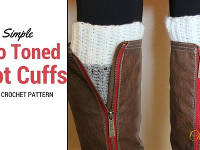 Two Toned Crochet Boot Cuff Tutorial