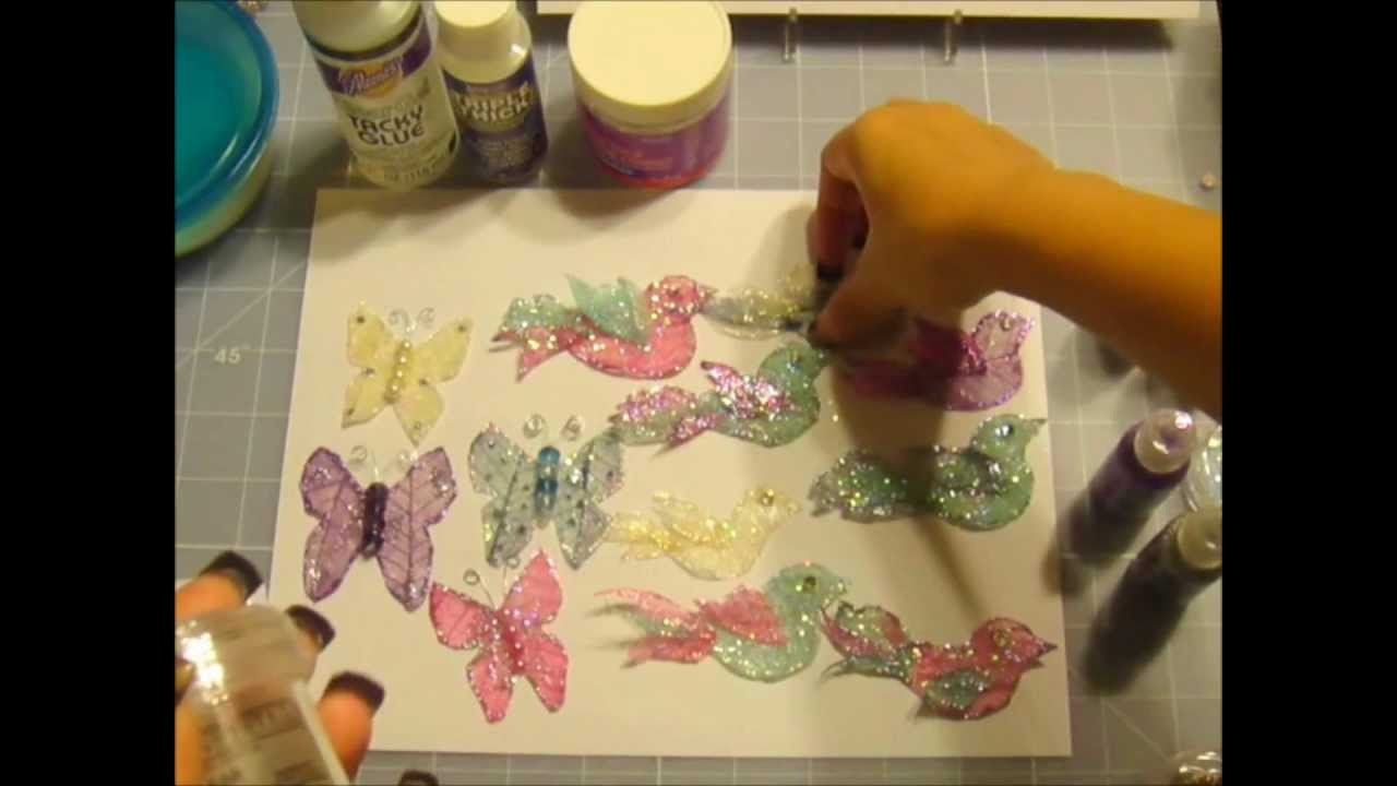 WOC Butterflies n Birds Skeleton Leaves Tutorial