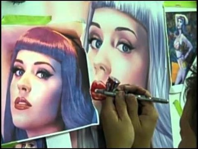 Airbrushing A Portrait of Katy Perry