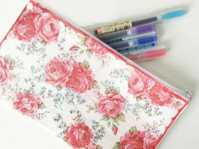 Back To School: DIY Decoupage Pencil Bag