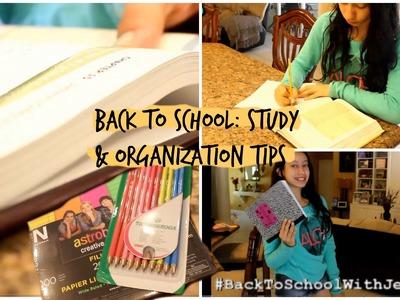 Back To School: Study & Organization Tips+ DIY School Supplies