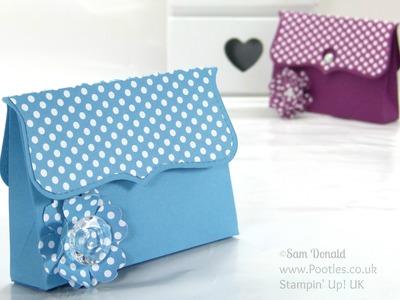 Clutch Bag Tutorial using ©Stampin' Up Top Note Die