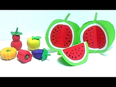 Colored Paper For Kids. How To Make Watermelon