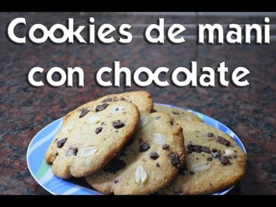 Como hacer cookies de mani con chocolate