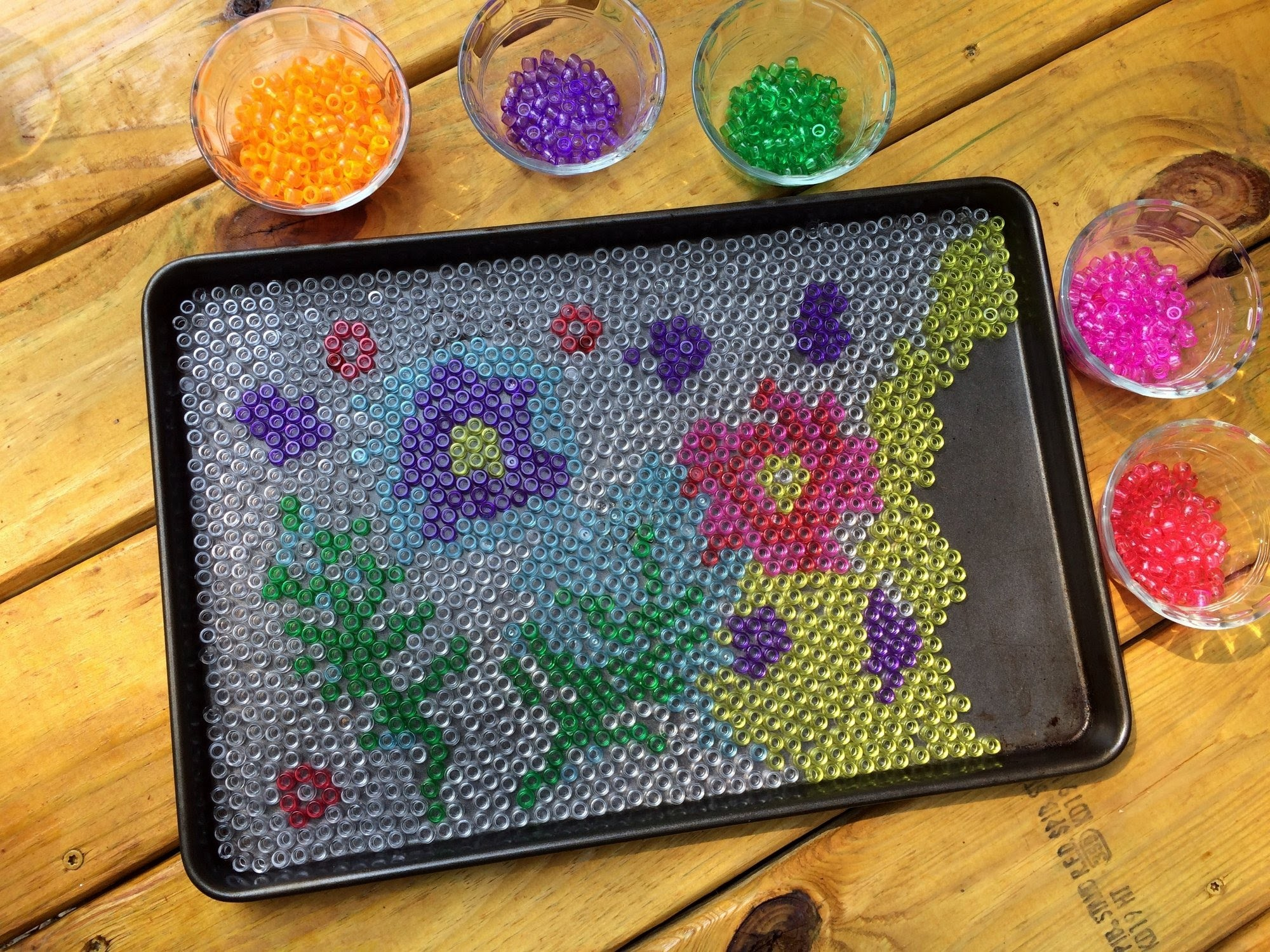 Cool Garden Art from Melted Pony Beads