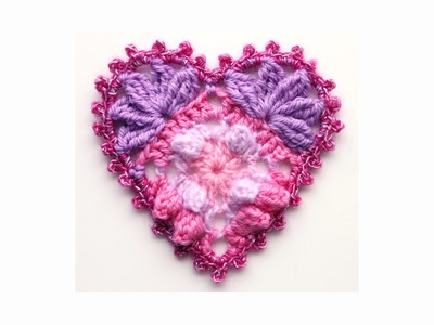 Crochet heart for Valentine's Day, wedding or Christmas decoration