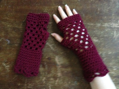 Crochet Openwork Gloves