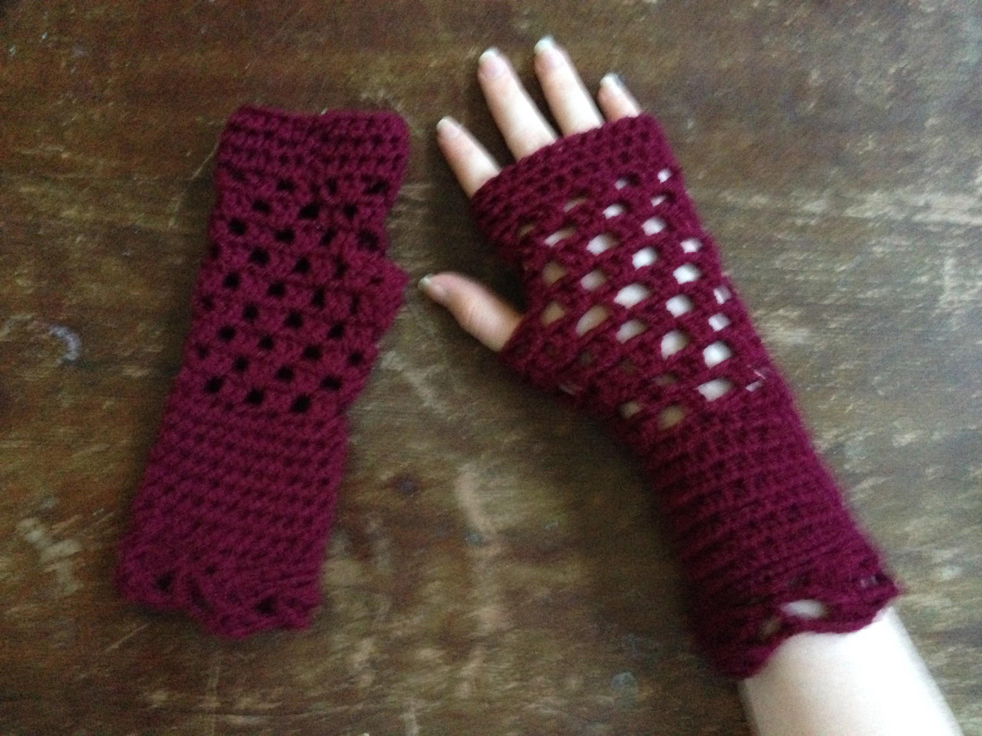 Crochet Openwork Gloves
