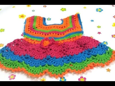CRPCHET COLORFUL BABY DRESS-2
