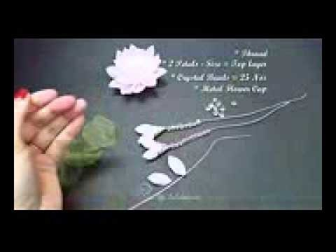 ❀ ✾ ❁ D I Y  Elegant Organza Kanzashi Flower with Dangles ❁ ✾ ❀
