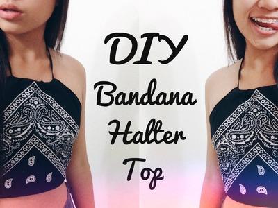 DIY Bandana Halter Top ♡ (Easy + No Sew!)