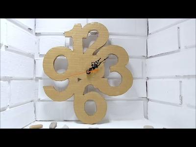 DIY Cardboard Clock - Easy crafts - Cardboard Crafts