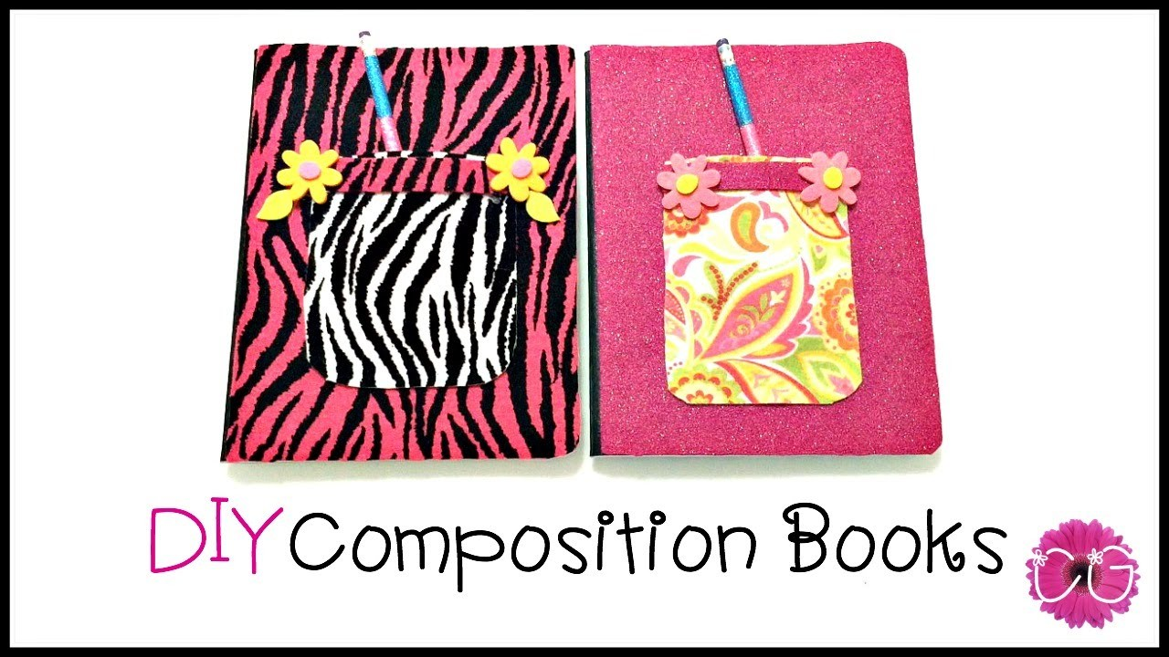 DIY COMPOSITION BOOKS - Cool for school!