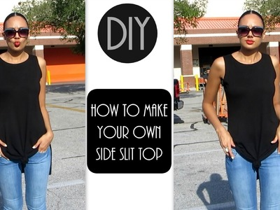 DIY From Dress to Side Slit Top   3 ways to wear it