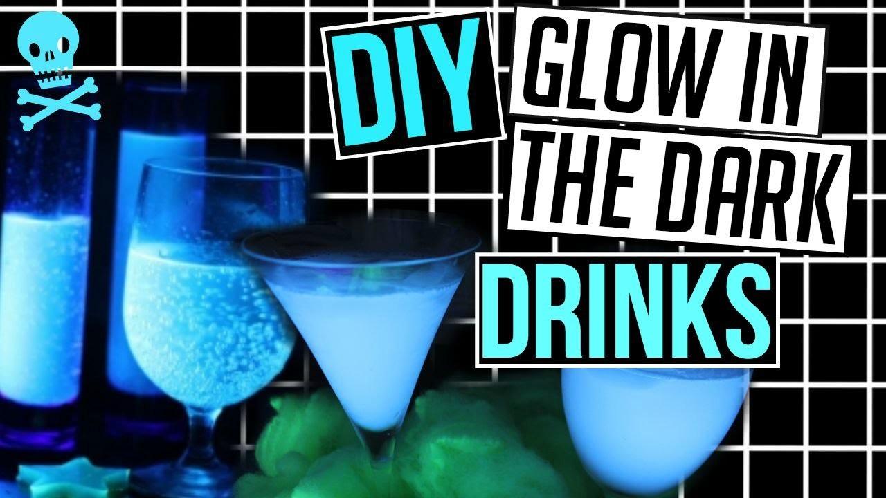 DIY Glow in the Dark Drinks for HALLOWEEN! CartneyBreanne