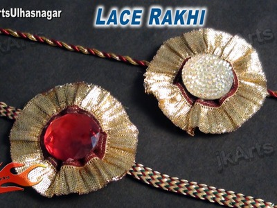 DIY Golden Lace Rakhi for Raksha Bandhan | How to make |  JK Arts 612