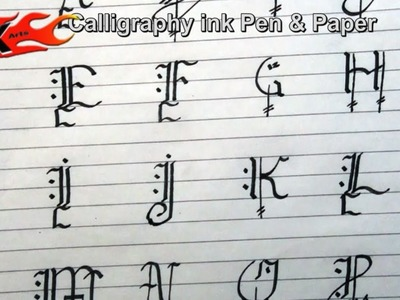 DIY How to write calligraphy Capital Alphabets - JK Arts 029