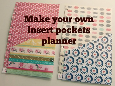 DIY Make your own insert pockets for your planners!!  by SaCrafters:How to:Tutorial