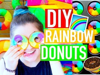 DIY RAINBOW DONUTS!   Gay Pride Inspired   Katharine Ward