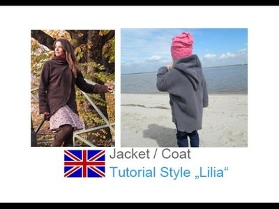 DIY sewing tutorial how to sew LILIAs jacket. comfy jacket. simple jacket