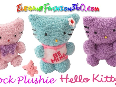 DIY Sock Plushie Hello Kitty.Kawaii Kitty.Stuffed Animal - How to