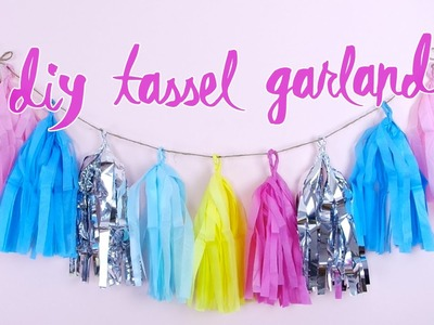DIY Tassel Garland! | by tashaleelyn
