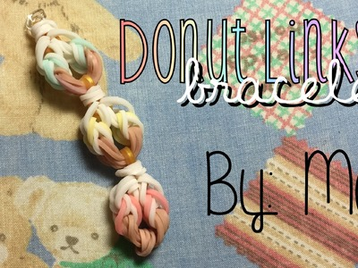 Donut Links Bracelet | Rainbow Loom Hook Only Design | How To