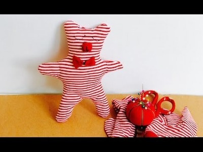 Easy sewing project: How to make an upcycled T-shirt teddy