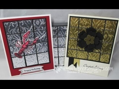 Foil Tile with Stampin'Up! Foil Sheet frenchiestamps.com