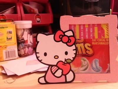 HELLO KITTY CEREAL BOX FRAME    FRAME DE HELLO KITTY