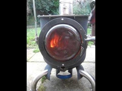 Home made gas bottle wood burning stove test 1