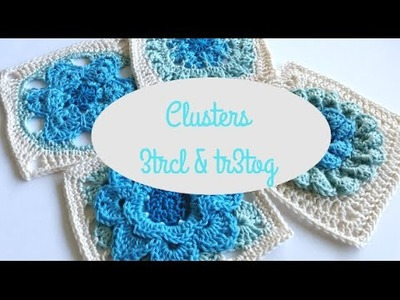 How to crochet clusters by Shelley Husband Spincushions