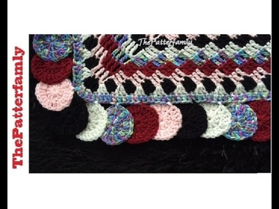 How to Crochet the Edge. Border. Trim Stitch Pattern #37│by ThePatterfamily