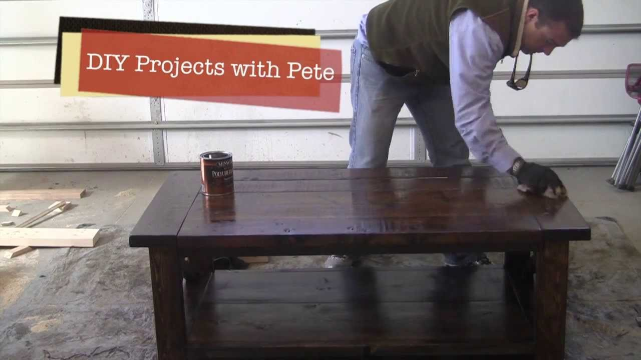 How to distress a Farm Style Coffee Table - Episode 3, Part 2