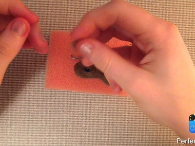 HOW TO DIY EYES and EYELASHES - needle felt TOY