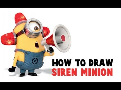 How to Draw Carl The Fire Fighter Minion (Bee Do Bee Do) From Despicable Me