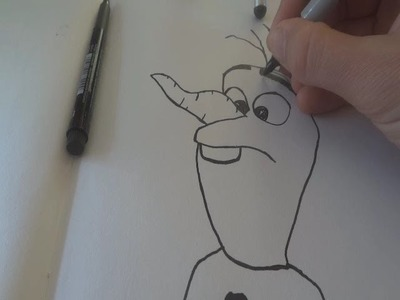 How to draw Olaf from Frozen (ASMR Soft Male Voice)