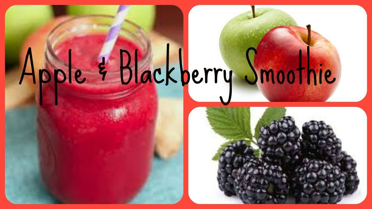 HOW TO MAKE A APPLE AND BLACKBERRY SMOOTHIE!