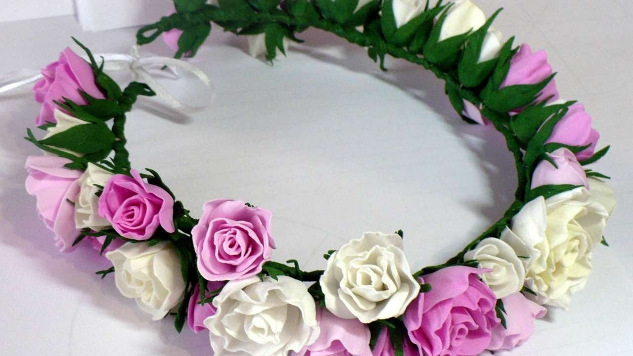 How To Make A Crown Of Foam Paper Roses Diy Style Tutorial
