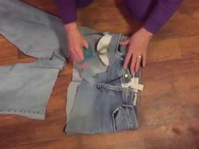 How to Make a Garden Apron from an Old Pair of Jeans