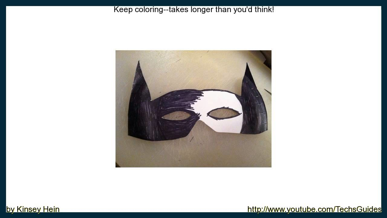 How to Make a Paper Plate Batman Mask