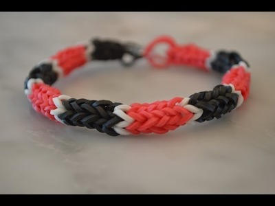 How to make a Rainbow Loom Panther Pride Nautique Bracelet