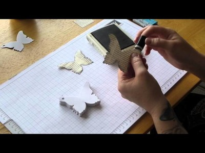 How to make a Stampin' Up! Bigz Butterfly keyring notepad