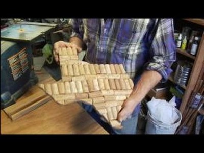 How to Make a Texas-Shaped Coaster : Texas-Shaped Coaster: Wine Corks and Plywood