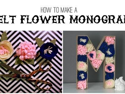 How To Make Felt Flowers