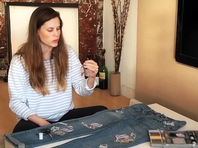 How to make old Jeans into Crystal Jeans (tutorial)