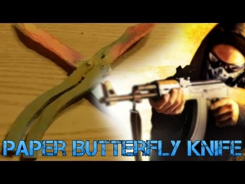How to Paper Butterfly Knife