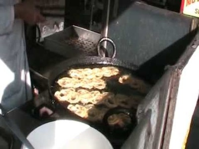 Jalebi Making in Southall ethnic Indian area in London